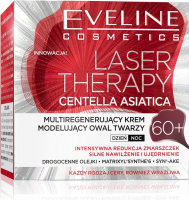 EVELINE - LASER THERAPY - CENTELLA ASIATICA - Multiregenerating face oval modeling cream - 60+