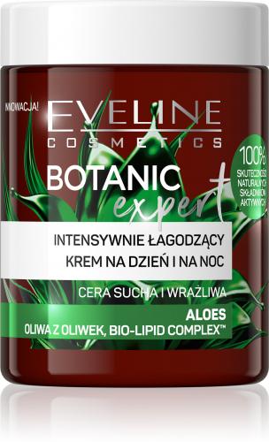 EVELINE - BOTANIC EXPERT - Intensywnie łagodzący krem na dzień i na noc - Aloes - 100 ml