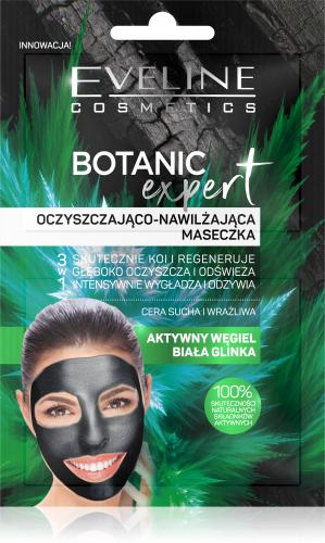 Eveline Cosmetics - BOTANIC EXPERT - Oczyszczająco-nawilżająca maseczka do twarzy - Cera sucha i wrażliwa