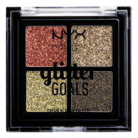 NYX Professional Makeup - Glitter Goals Cream Glitter Palette - Paleta 4 brokatowych cieni do powiek - 02 GALACTICA