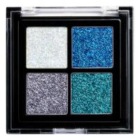 NYX Professional Makeup - Glitter Goals Cream Glitter Palette - Paleta 4 brokatowych cieni do powiek - 01 GLACIER