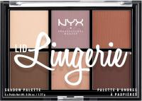 NYX Professional Makeup - LID LINGERIE SHADOW PALETTE - Paleta 6 cieni do powiek
