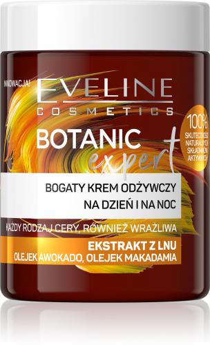EVELINE - BOTANIC EXPERT - Bogaty krem odżywczy na dzień i na noc - Ekstrakt z Lnu - 100 ml