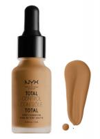 NYX Professional Makeup - TOTAL CONTROL - DROP FOUNDATION - Podkład z zakraplaczem - TCDF16 - MAHOGANY - TCDF16 - MAHOGANY