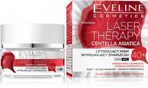 Eveline Cosmetics - LASER THERAPY - CENTELLA ASIATICA - Liftingujacy krem wypełniający zmarszczki - 40+