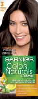 GARNIER - COLOR NATURALS Creme - Trwała, odżywcza koloryzacja do włosów - 3 Ciemny Brąz