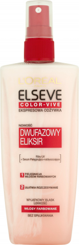L'Oreal - ELSEVE  COLOR-VIVE - Ekspresowa odżywka do włosów farbowanych - 200 ml - BEZ SPŁUKIWANIA