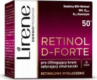Lirene - RETINOL D-FORTE - Pro lifting face cream reducing wrinkles - 50+