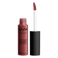 NYX Professional Makeup - SOFT MATTE METALLIC LIP CREAM - Metaliczna, matowa pomadka do ust - C09 - ROME - C09 - ROME