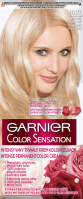GARNIER - COLOR SENSATION - Permanent hair coloring cream - 10.21 Delicate Pearly Blonde