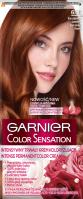 GARNIER - COLOR SENSATION - Permanent hair coloring cream - 6.46 Red Amber Brown