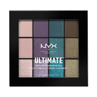 NYX Professional Makeup - ULTIMATE MULTI FINISH SHADOW PALETTE - 12 eyeshadows - 07 SMOKE SCREEN