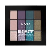 NYX Professional Makeup - ULTIMATE MULTI FINISH SHADOW PALETTE - Paleta 12 cieni do powiek - 07 SMOKE SCREEN