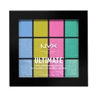 NYX Professional Makeup - ULTIMATE MULTI FINISH SHADOW PALETTE - Paleta 12 cieni do powiek - 05 ELECTRIC