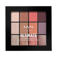 NYX Professional Makeup - ULTIMATE MULTI FINISH SHADOW PALETTE - Paleta 12 cieni do powiek - 06 SUGAR HIGH