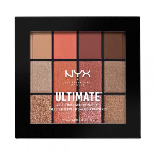 NYX Professional Makeup - ULTIMATE MULTI FINISH SHADOW PALETTE - Paleta 12 cieni do powiek - 08 WARM RUST