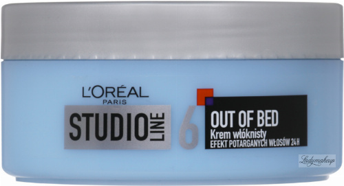 L'Oréal - STUDIO LINE 6 - OUT OF BED - Włóknisty krem modelujący do włosów - 150 ml