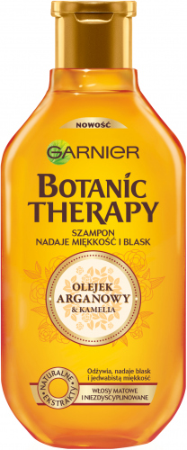 GARNIER - BOTANIC THERAPY - Wygładzający szampon do włosów matowych i niezdyscyplinowanych - Olejek Arganowy i Kamelia - 250 ml