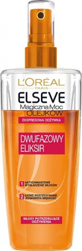 L'Oréal - ELSEVE - Magiczna Moc Olejków - Ekspresowa odżywka do włosów szorstkich, matowych i niezdyscyplinowanych - 200 ml - BEZ SPŁUKIWANIA