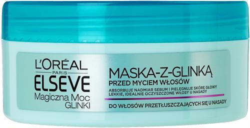L'Oréal - ELSEVE - Magiczna Moc Glinki - Maska do włosów przetłuszczających się u nasady - 150 ml