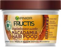 GARNIER - FRUCTIS - MACADAMIA HAIR FOOD MASK - Wygładzająca maska do włosów suchych i niesfornych - Makadamia
