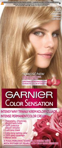 GARNIER - COLOR SENSATION - Trwały krem koloryzujący do włosów - 8.0 Świetlisty Jasny Blond