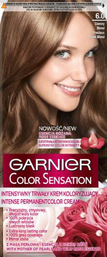 GARNIER - COLOR SENSATION - Trwały krem koloryzujący do włosów - 6.0 Szlachetny Ciemny Blond