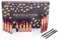 MAKEUP REVOLUTION - LIP REVOLUTION REDS - Zestaw kosmetyków do makijażu ust - REDS