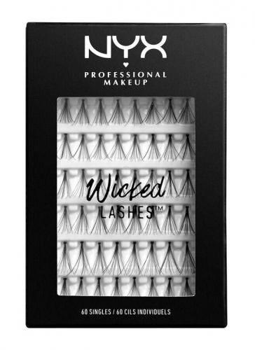 NYX Professional Makeup - WICKED LASHES - Zestaw sztucznych kępek do rzęs - 01 SINGLES
