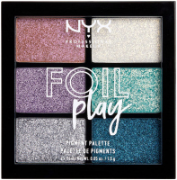 NYX Professional Makeup - FOIL PLAY PIGMENT PALETTE - Palette of 6 face and body cream pigments - 02 LIMIT LOVE