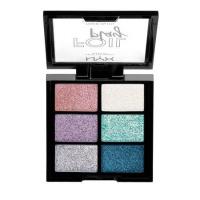 NYX Professional Makeup - FOIL PLAY PIGMENT PALETTE - Paleta 6 kremowych pigmentów do twarzy i ciała - 02 LIMIT LOVE