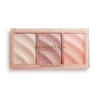 MAKEUP REVOLUTION - PRECIOUS STONE - HIGHLIGHTER PALETTE - Paleta 3 rozświetlaczy - ROSE QUARTZ
