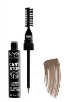 NYX Professional Makeup - CAN'T STOP WON'T STOP LONGWEAR BROW KIT - Zestaw do stylizacji brwi - 01 BLONDE - 01 BLONDE