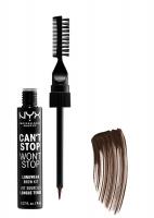 NYX Professional Makeup - CAN'T STOP WON'T STOP LONGWEAR BROW KIT - Zestaw do stylizacji brwi - 07 ESPRESSO - 07 ESPRESSO