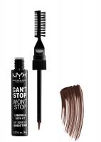 NYX Professional Makeup - CAN'T STOP WON'T STOP LONGWEAR BROW KIT - Zestaw do stylizacji brwi - 06 BRUNETTE - 06 BRUNETTE