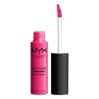 NYX Professional Makeup - SOFT MATTE METALLIC LIP CREAM - Metaliczna, matowa pomadka do ust - C03 - PARIS - C03 - PARIS