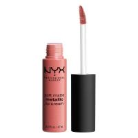NYX Professional Makeup - SOFT MATTE METALLIC LIP CREAM - Metaliczna, matowa pomadka do ust - C06 - CANNES - C06 - CANNES