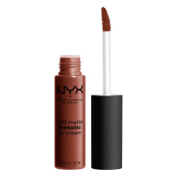 NYX Professional Makeup - SOFT MATTE METALLIC LIP CREAM - Metaliczna, matowa pomadka do ust - C12 - DUBAI - C12 - DUBAI