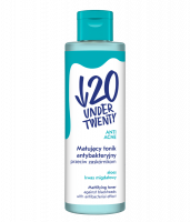 UNDER TWENTY - ANTI ACNE - MATTIFYING TONER - Matujący tonik antybakteryjny przeciw zaskórnikom - 200 ml
