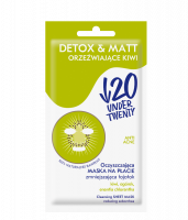 UNDER TWENTY - ANTI ACNE - DETOX & MATT - Cleansing mask on the sheet - Refreshing Kiwi