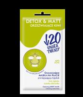 UNDER TWENTY - ANTI ACNE - DETOX & MATT - Cleansing mask on the sheet - Refreshing Kiwi