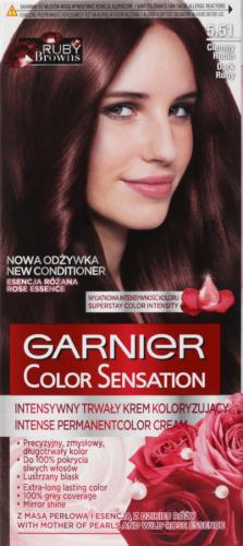 GARNIER - COLOR SENSATION - Trwały krem koloryzujący do włosów - 5.51 Ciemny Rubin