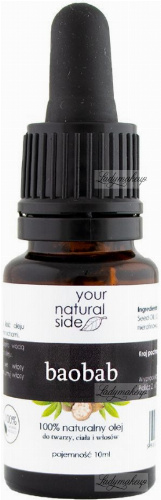 Your Natural Side - 100% naturalny olej z baobabu - 10 ml