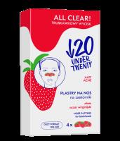 UNDER TWENTY - ALL CLEAR! - NOSE PATCHES - Plastry na nos na zaskórniki - 4 szt