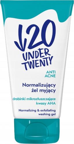 UNDER TWENTY - ANTI ACNE - Normalizing & Exfoliating Washing Gel - Normalizujący żel myjący do twarzy - 150 ml