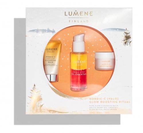 LUMENE - VALO - NORDIC C GLOW BOOSTING RITUAL - Zestaw prezentowy kosmetyków do pielęgnacji twarzy