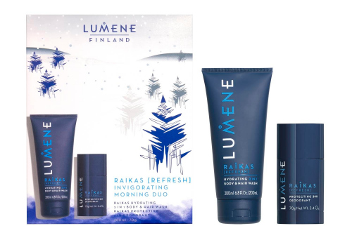 LUMENE - FINLAND - RAIKAS - INVIGORATING MORNING DUO - Gift set of cosmetics for men