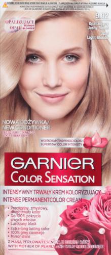 GARNIER - COLOR SENSATION - Trwały krem koloryzujący do włosów - 9.02 Opalizujący Jasny Blond