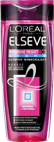 L'Oréal - ARGININE RESISR X3 LIGHT - Wzmacniający szampon do włosów osłabionych i przetłuszczających się - 400 ml