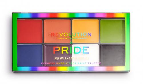 MAKEUP REVOLUTION - PRIDE EXPRESS MYSELF FACE PAINT PALETTE - Paleta 8 farb do twarzy